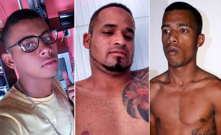 Adaílson, Fernando e Alex reagiram às abordagens e foram mortos durante tiroteio com a polícia - Foto: Divulgação   SSP-BA