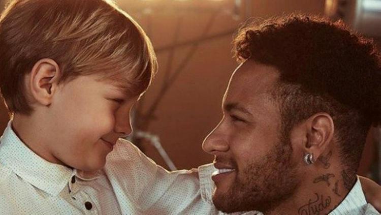Neymar Jr. e o filho Davi Lucca - Foto: Divulgação