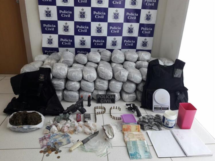 Cerca de 2,8 toneladas de maconha, cocaína e crack foram encontrados durante ações de inteligência e abordagens - Foto: Divulgação | SSP-BA