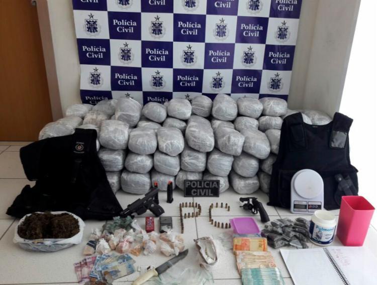 Todo material foi apreendido na casa de Isabela Evangelista da Silva - Foto: Divulgação | SSP BA