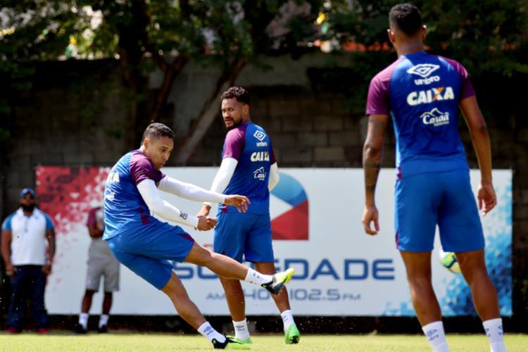 Tricolor encara o Palmeiras nesta quinta-feira, 16, às 19h15 - Foto: Felipe Oliveira | Divulgação | E. C. Bahia