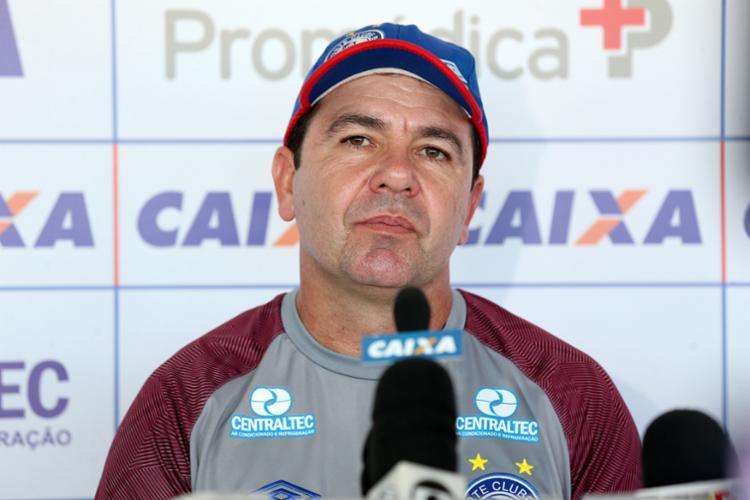 Em coletiva, Enderson relatou que o resultado do jogo acabou sendo injusto - Foto: Felipe Oliveira | Divulgação | E. C. Bahia