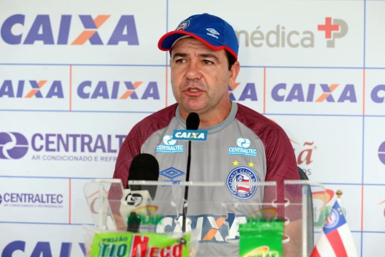 Comandante destacou a postura dos seus jogadores no embate - Foto: Felipe Oliveira | Divulgação | E. C. Bahia