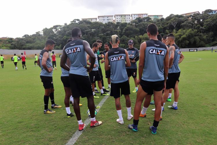 Leão iniciou preparação para encarar o Grêmio - Foto: Maurícia da Matta   E. C. Vitória   Divulgação