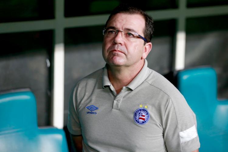 Treinador já projeta sequência de três jogos fora de casa - Foto: Felipe Oliveira | Divulgação | E. C. Bahia