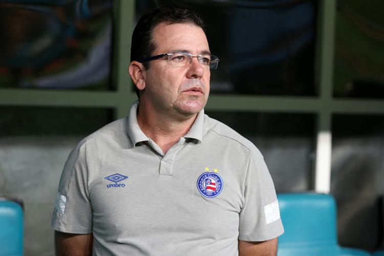 Enderson ficou satisfeito com a atuação do Bahia, mas lamentou o resultado - Foto: Felipe Oliveira | Divulgação | E C. Bahia