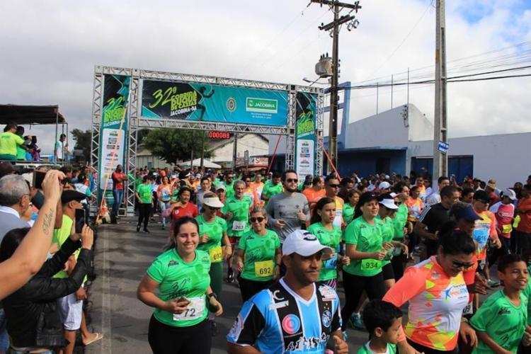 Corredores na última edição da prova no ano passado - Foto: Prefeitura de Jacobina / divulgação