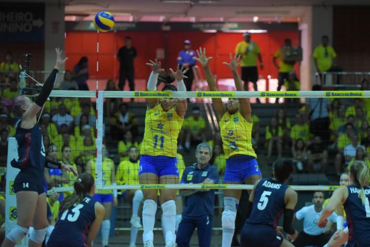 Seleção feminina de vôlei perdeu por 3 sets a 1 - Foto: Ricardo Botelho   Inovafoto   Divulgação   CBV