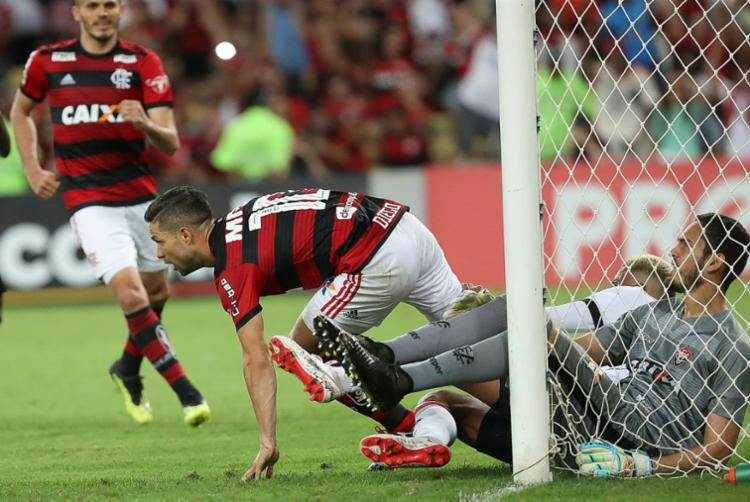 Ataque do Leão passou em branco pelo terceiro jogo seguido - Foto: Gilvan de Souza l Flamengo