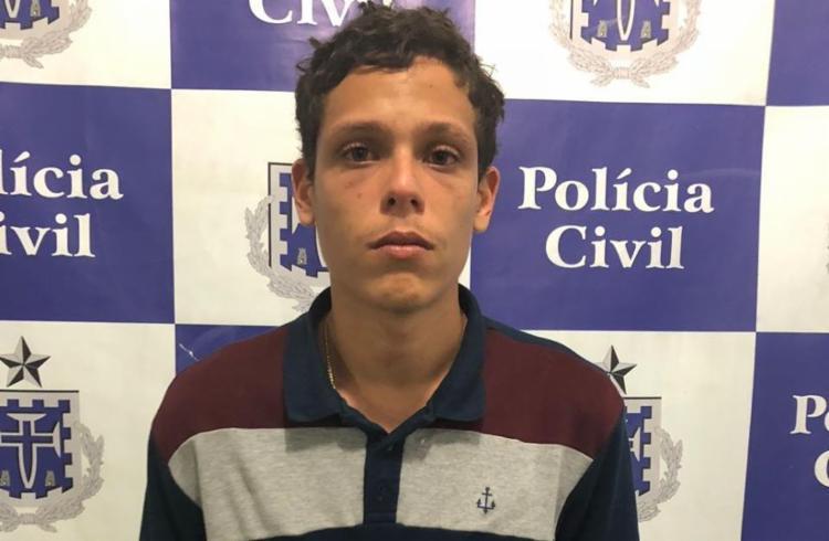 Luan foi capturado após denúncia anônima sobre tráfico de drogas na região - Foto: Divulgação   SSP-BA
