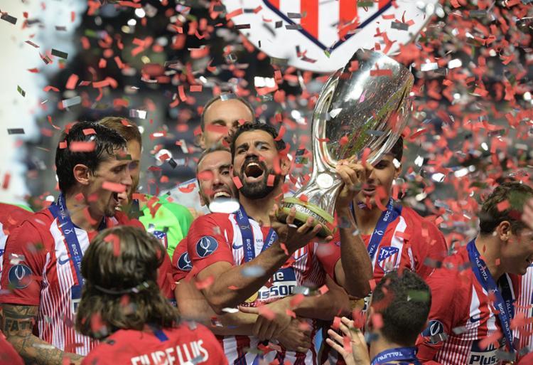 Com dois gols del Diego Costa, o Atlético quebrou a sequência de títulos do Real - Foto: Raigo Pajula   AFP