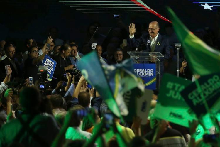 Convenção Nacional do PSDB, em Brasília, lança Geraldo Alckmin como seu candidato à Presidência da República | Foto: José Cruz | Agência Brasil