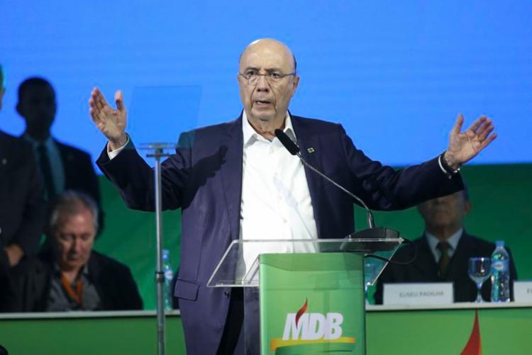 Convenção Nacional do MDB confirmou candidatura de Henrique Meirelles | Foto: Antonio Cruz | Agência Brasil