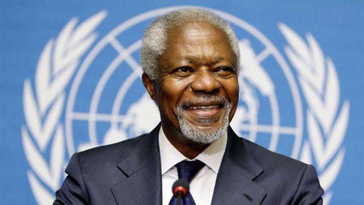 Nascido em Gana em 1938, o africano foi um dos ganhadores do prêmio Nobel da Paz - Foto: AFP