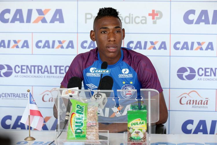 Como pertence ao Fluminense, o jogador também não poderá atuar por questões contratuais - Foto: Felipe Oliveira | Divulgação | E. C. Bahia