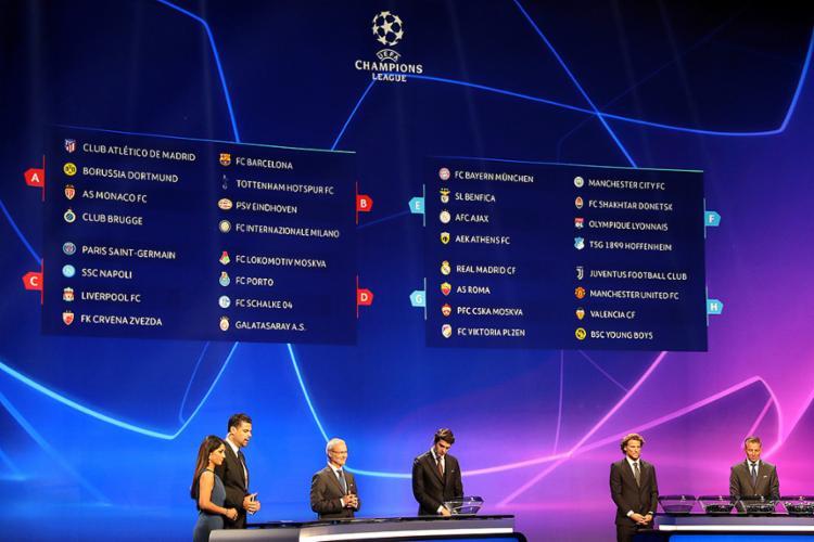 Equipes enfrentarão Tottenham e Inter de Milão, Napoli e Liverpool, e Manchester United e Valencia em suas chaves - Foto: Valery Hache l AFP