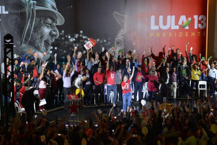 Convenção nacional do PT escolheu Lula para candidato a presidente | Foto: Rovena Rosa | Agência Brasil