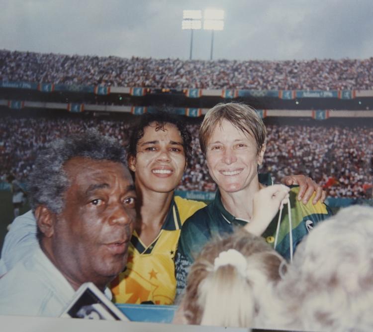 Nos Jogos Olímpicos de Atlanta, o futebol feminino do Brasil terminou em quarto lugar