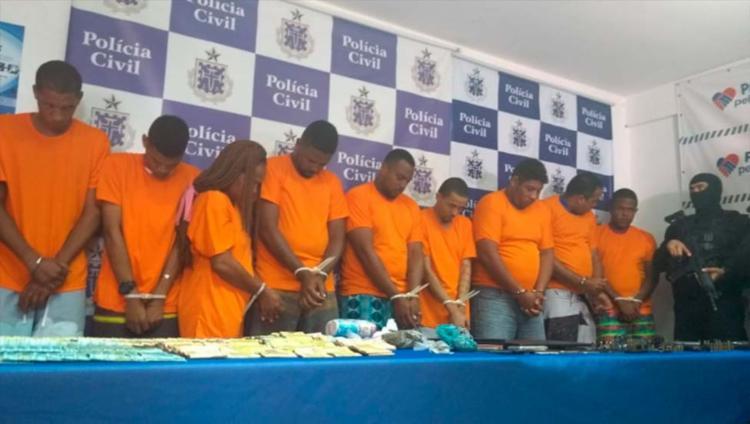 Alguns dos presos foram apresentados nesta quinta, 9, no DHPP