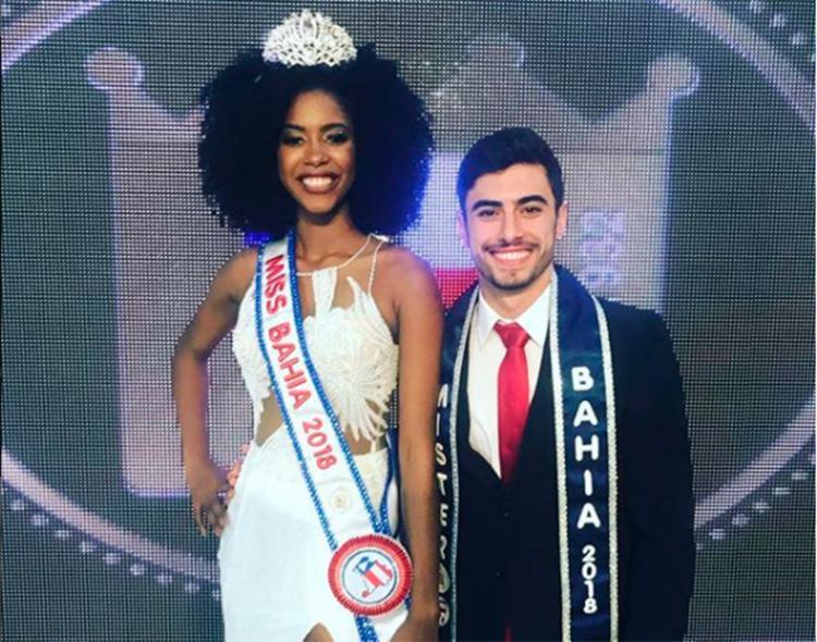 Dupla vai disputar o Miss e Mister Brasil 2018 em dezembro, na cidade de São Paulo - Foto: Divulgação