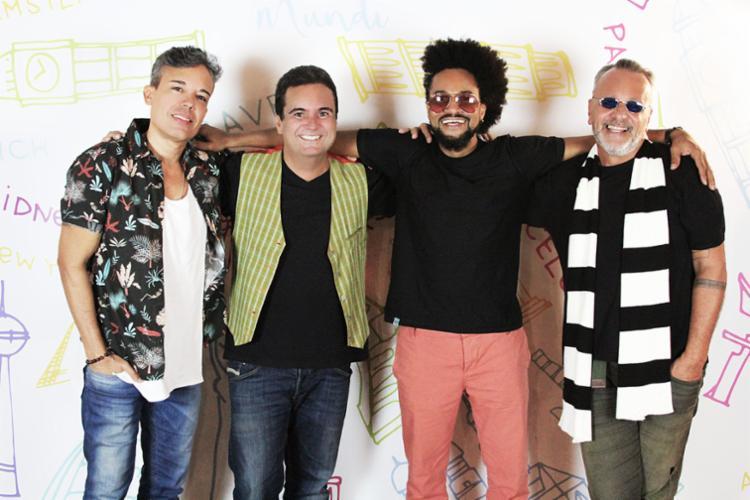 A banda Mudei de Nome é composta pelos artistas Ricardo Chaves, Magary Lord, Ramon Cruz e Jonga Cunha - Foto: Divulgação