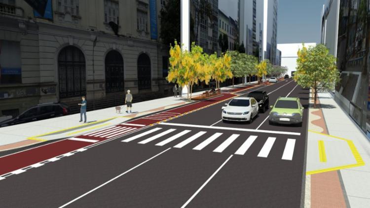 Projeção mostra como ficará a rua após as obras de requalificação - Foto: Divulgação | Secom