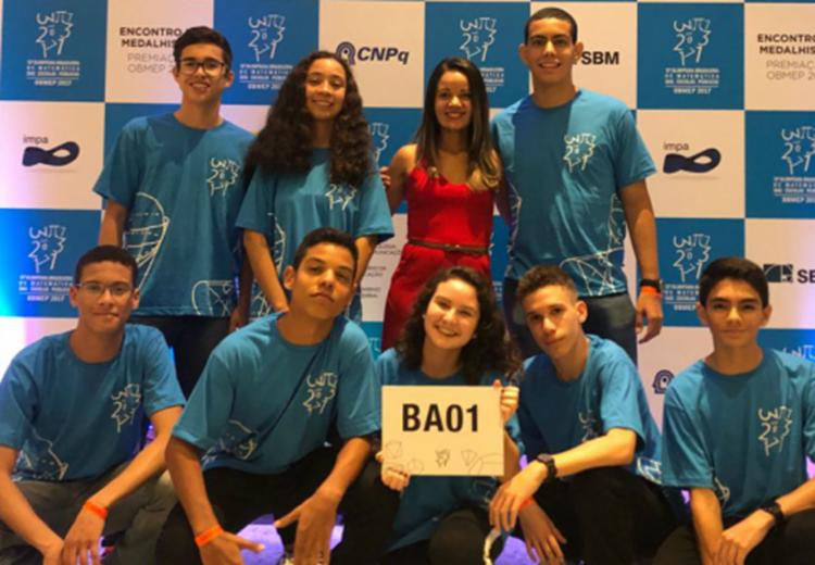 Os medalhistas de ouro na 13ª OBMEP 2017, participaram, nesta quinta-feira (2), da cerimônia de premiação nacional, no Centro de Exposições e Convenções Riocentro - Foto: Divulgação