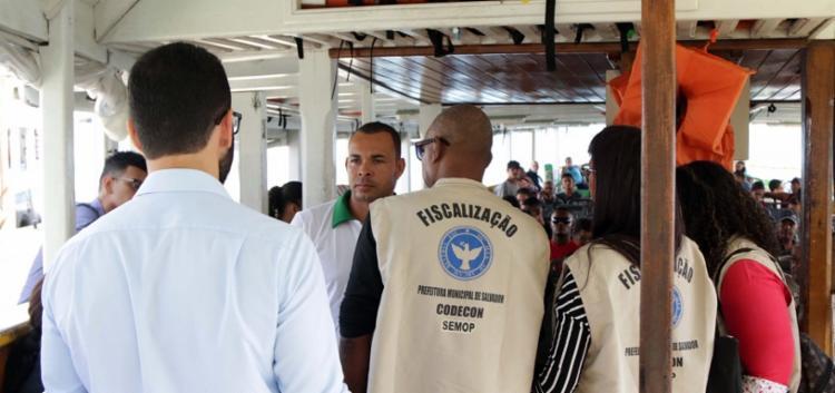 A Codecon realizou vistorias em seis embarcações na Operação Navegar Seguro, realizada no Terminal Náutico do Comércio - Foto: Bruno Concha | Secom-PMS
