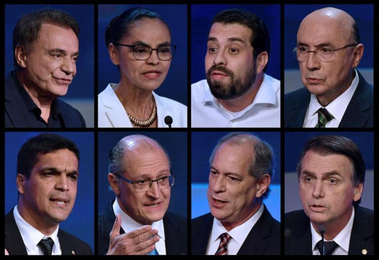 No primeiro dia, os 13 candidatos se apresentaram e pediram votos - Foto: Nelson Almeida l AFP