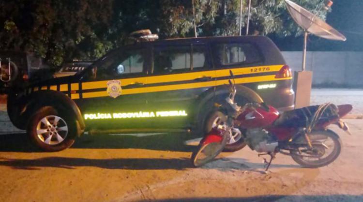 Motociclista afirmou ter adquirido o veículo em 2010 por meio de negociação com um terceiro - Foto: Divulgação   PRF