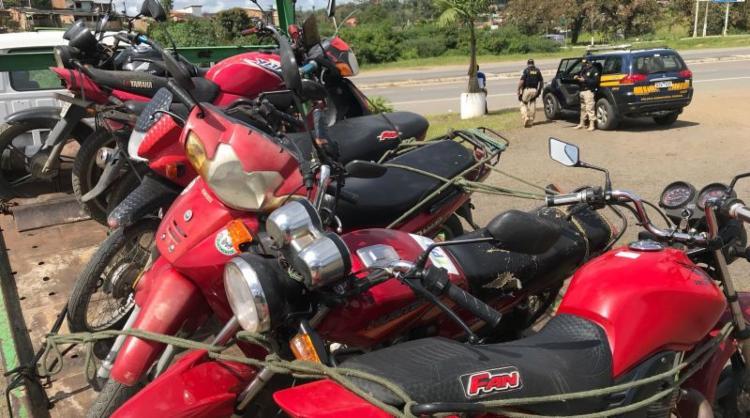Motocicletas apreendidas estavam em situação irregular
