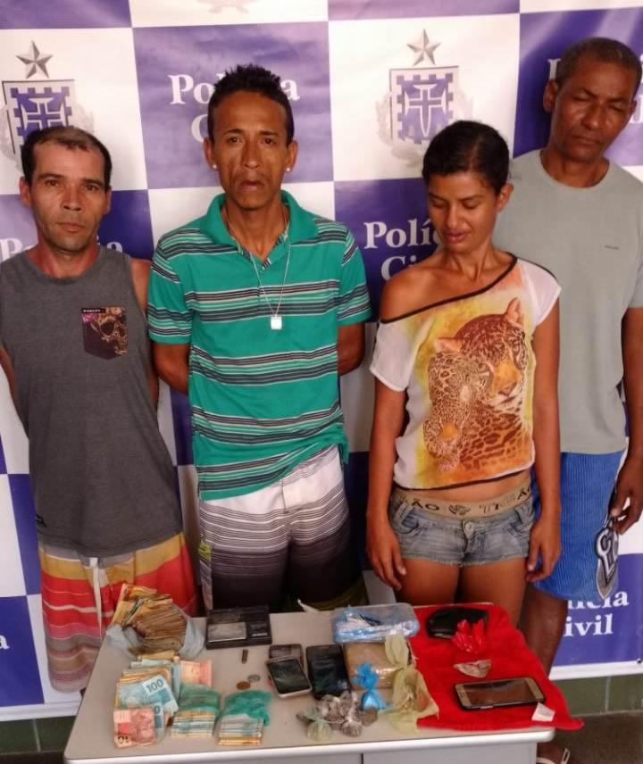Mais quatros pessoas também foram detidas em Senhor do Bonfim