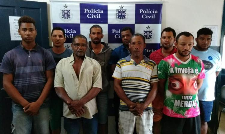 Os nove suspeitos ficarão à disposição da Justiça - Foto: Divulgação | Polícia Civil