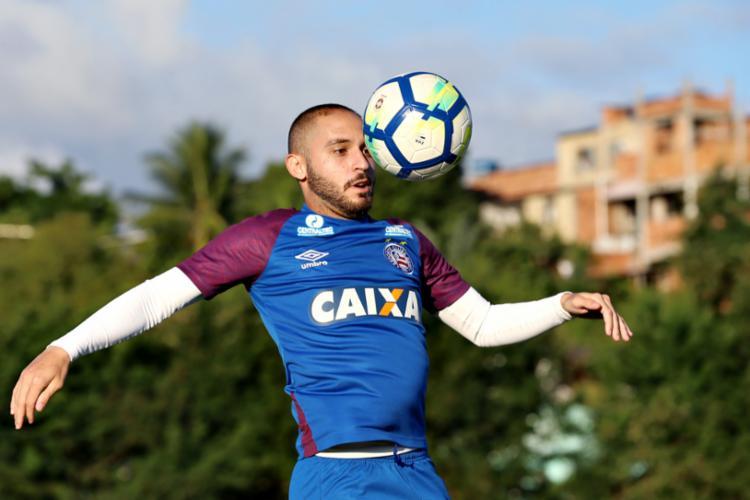 Equipe do técnico Fábio Carille divulgou chegada de jogador do Bahia - Foto: Felipe Oliveira | Divulgação | E. C. Bahia