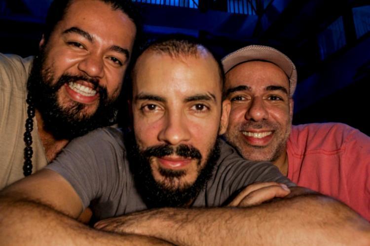 Thiago, João Rafael e Edu estão em processo de montagem do espetáculo de dança 'Kilezuuummmm' - Foto: João Rafael Neto | Divulgação