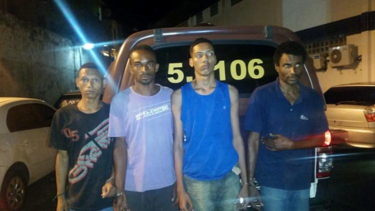 O quarteto foi apresentado no Grupo Especial de Repressão a Roubos em Coletivos - Foto: Divulgação   SSP