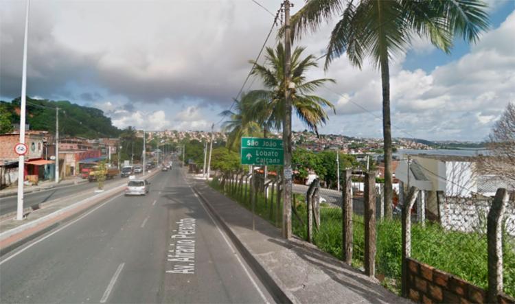 Acidente ocorreu nas imediações da Igreja Universal, em Plataforma - Foto: Reprodução   Google Maps