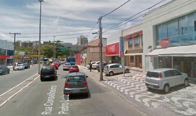Loja alvo dos bandidos fica na rua Conselheiro Pedro Luiz - Foto: Reprodução | Google Maps