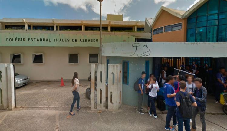 Crime aconteceu nas proximidades do colégio, segundo a polícia - Foto: Reprodução | Google Maps