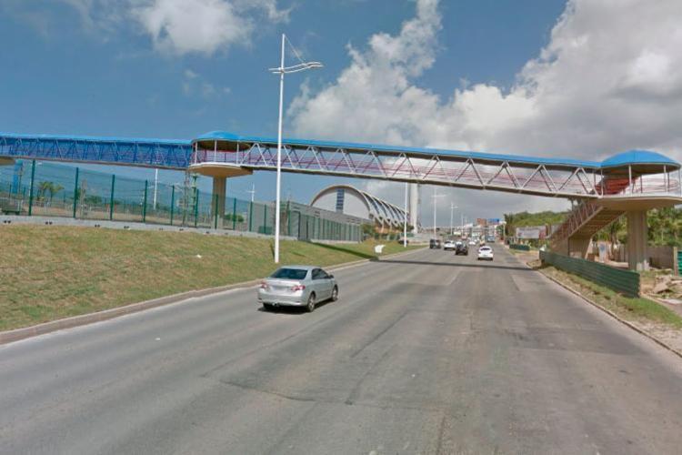 A interdição vai acontecer na altura da estação de metrô Tamburugy - Foto: Reprodução | Google Maps