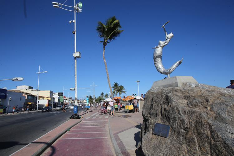 O trecho da praça da Sereia, no bairro de Itapuã, será interditada neste sábado - Foto: Margarida Neide | Ag. A TARDE