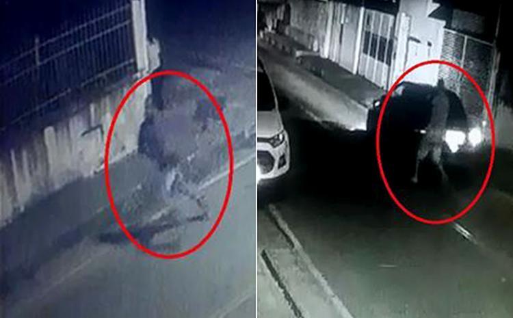 Imagens das câmeras de segurança mostram os suspeitos fugindo em direção a carro que já os aguardava - Foto: Reprodução l A TARDE TV