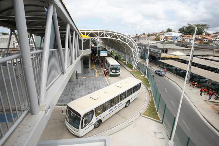Inicialmente, terminal vai funcionar com 13 baias para coletivos - Foto: Luciano da Matta | Ag. A TARDE