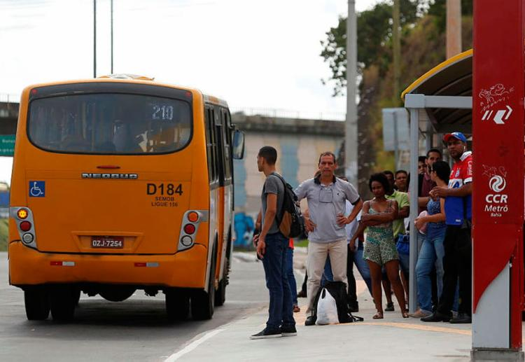 Assim como em Pituaçu, a estação de ônibus do aeroporto será integrada ao metrô - Foto: Luciano da Matta | Ag. A TARDE