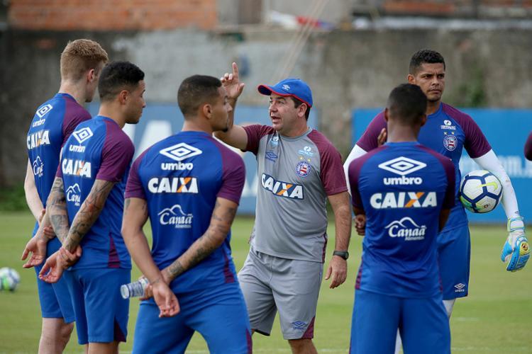 Sem problemas por suspensão ou lesão, Enderson poderá escalar o que tem de melhor nesta quarta-feira, 22 - Foto: Felipe Oliveira l EC Bahia