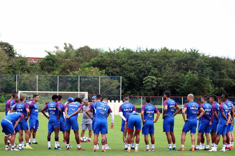 O técnico Enderson Moreira terá três desfalques para o duelo no Presidente Vargas - Foto: Felipe Oliveira l EC Bahia