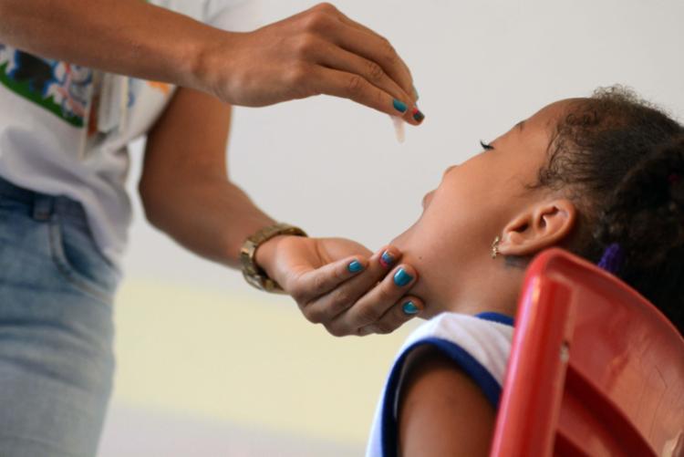 Meta é imunizar 95% das crianças de um a menores de cinco anos - Foto: Jefferson Peixoto | PMS