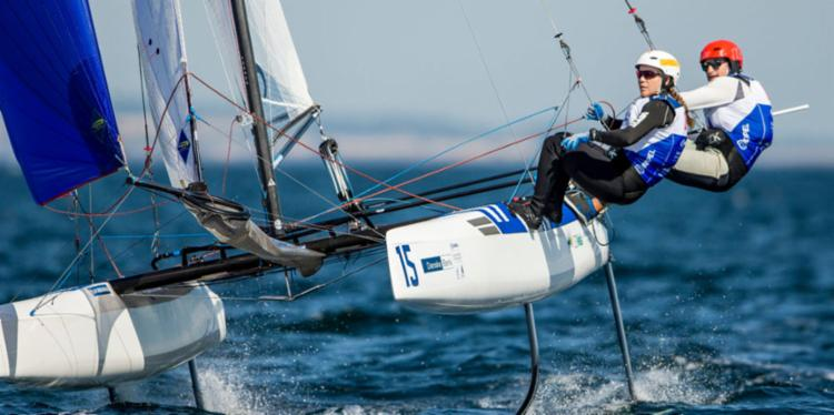 Gabriela e Samuel, da Nacra, ainda brigam por medalha mundial - Foto: Pedro Martinez | Saling Energy | Aarhus