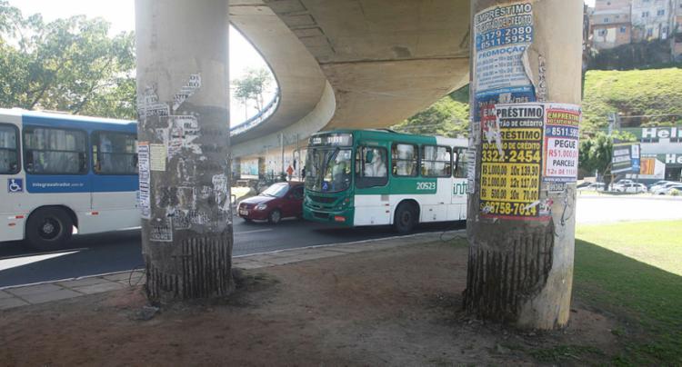 Viadutos Rômulo Almeida, na região do Dique do Tororó