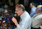 Em meio à confusão, Alckmin faz campanha no centro de Salvador   Foto: Shirley Stolze   Ag. A TARDE